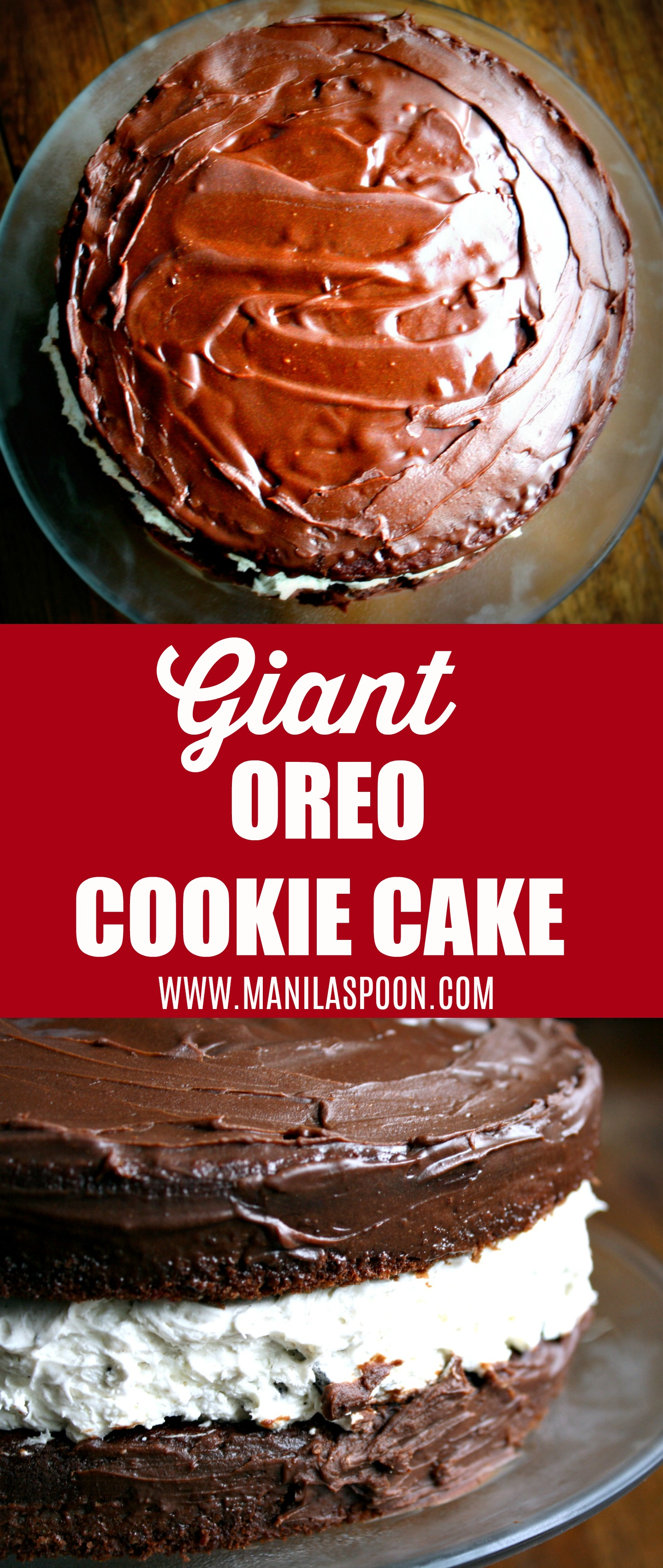 This is my kids' favorite cake - Giant Oreo Cookie Cake! It's so fun and easy to make and it's the kind of Oreos you can share with everyone!!