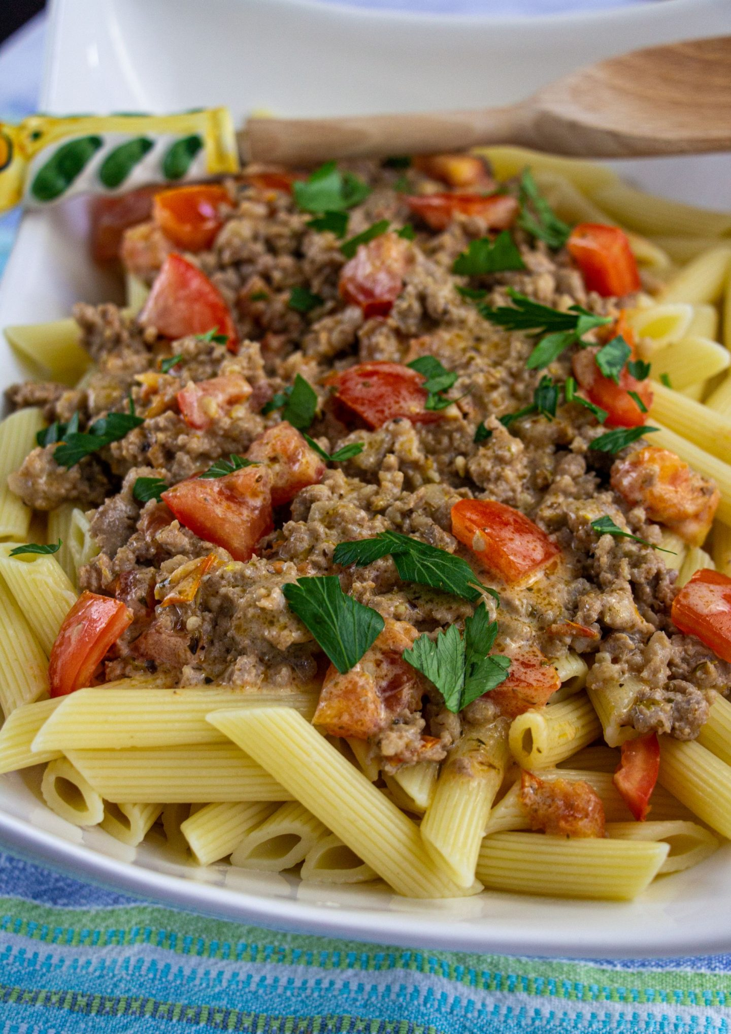 Penne with Italian Sausage and Creamy Tomato Sauce