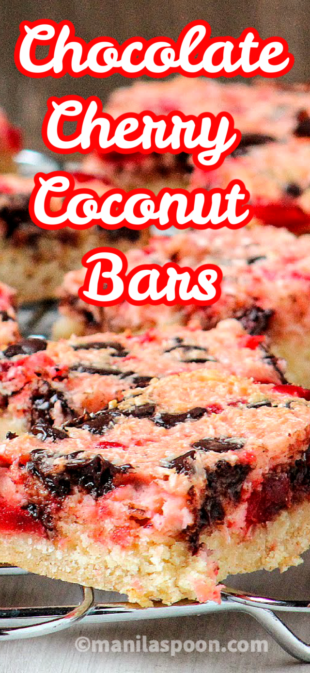 Chocolate Cherry Coconut Bars
