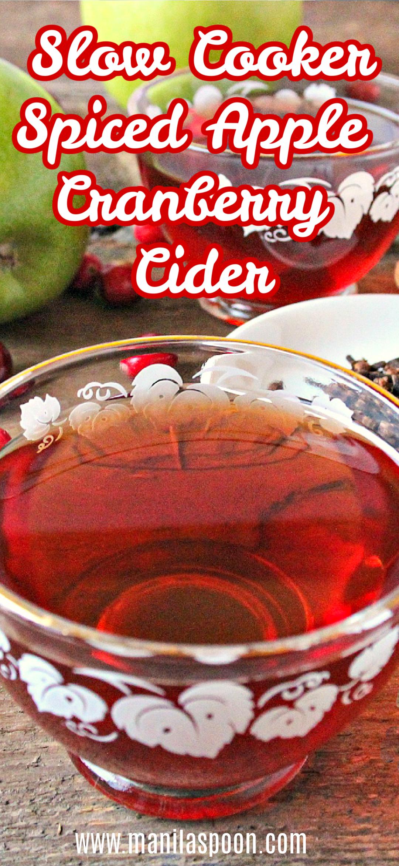 Slow Cooker Spiced Cranberry Cider