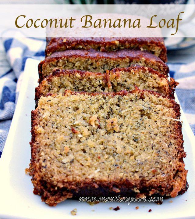 Coconut Banana Loaf (Bread)