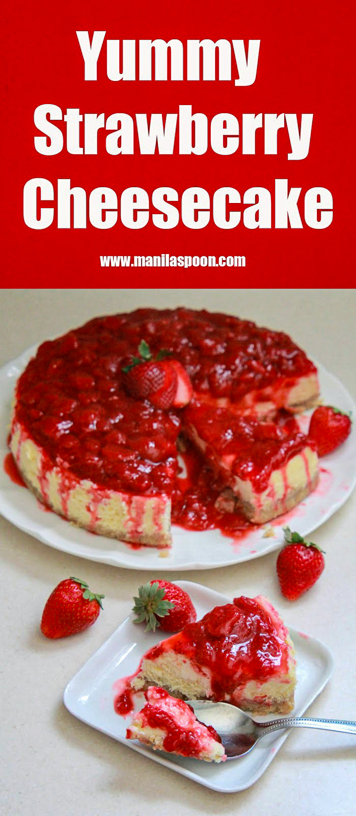 Yummy Strawberry Cheesecake