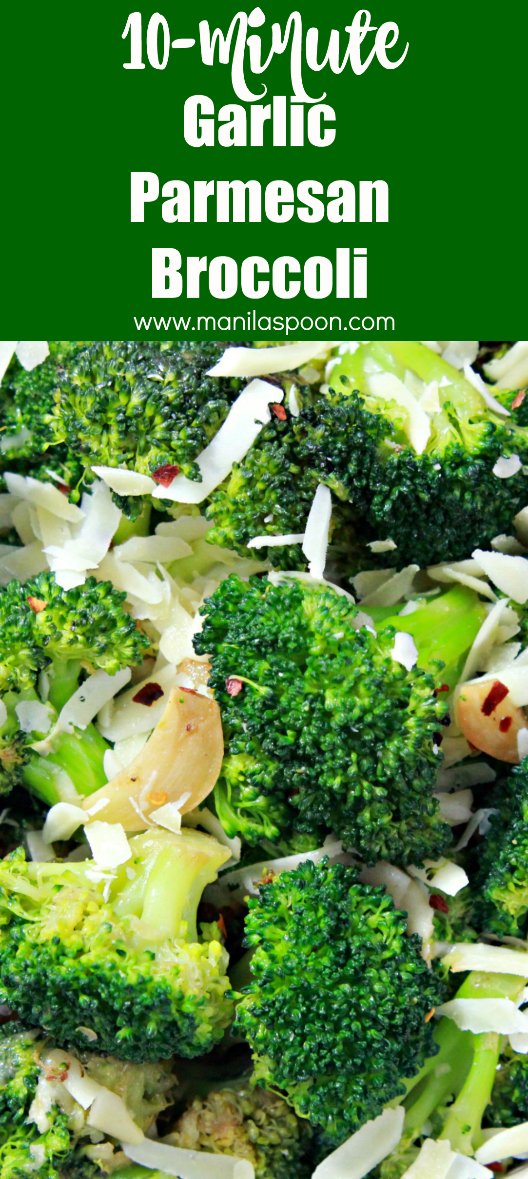 Just 10 minutes to make this super-easy and truly tasty side dish - Garlic Parmesan Broccoli! It's so addictively yummy you'll be making this over and over again!