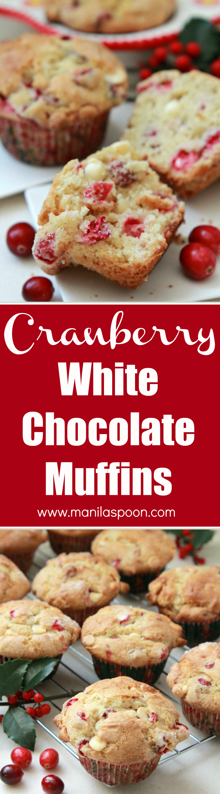 Cranberry White Chocolate Muffins - Manila Spoon