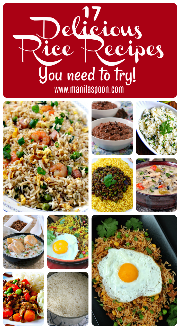 Love rice? Here are 17 delicious, tried and tested Rice Recipes you need to try!