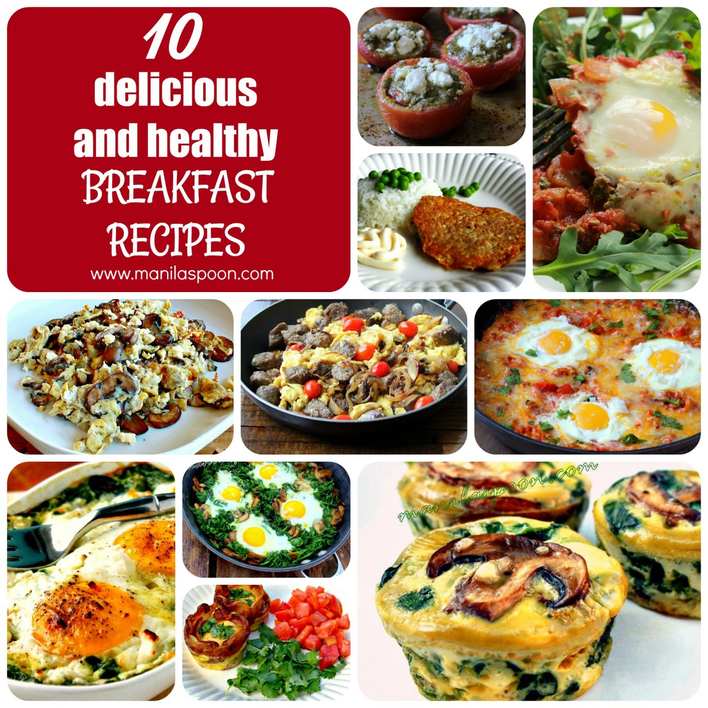 10 delicious and healthy breakfast or brunch recipes to help you start the year right! Completely low-carb, gluten-free and keto-friendly!
