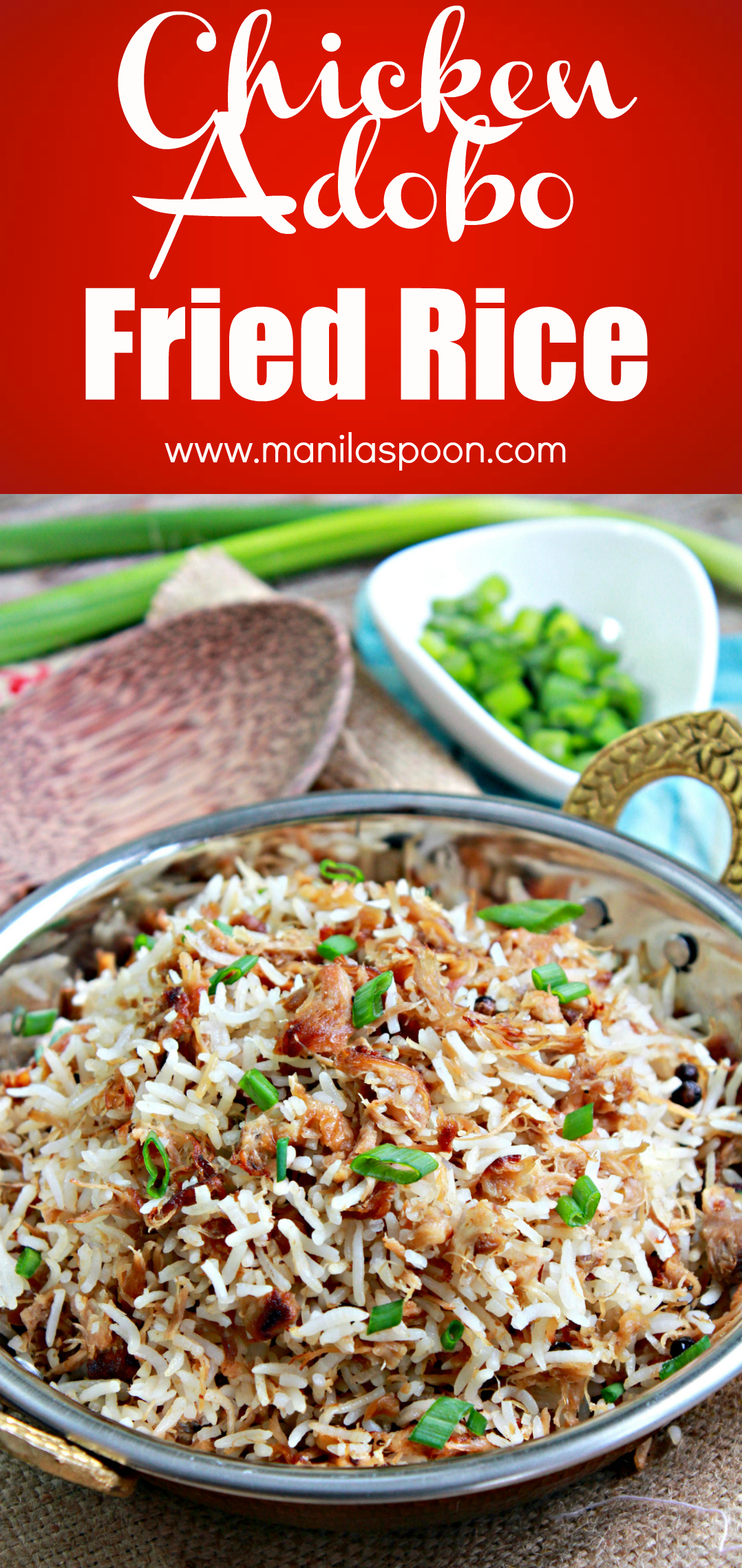 When you have left-over adobo, the best thing to do is to make a meal out of it by making Chicken Adobo Fried Rice. Perfect for Pork Adobo as well. Easy and super-tasty!!