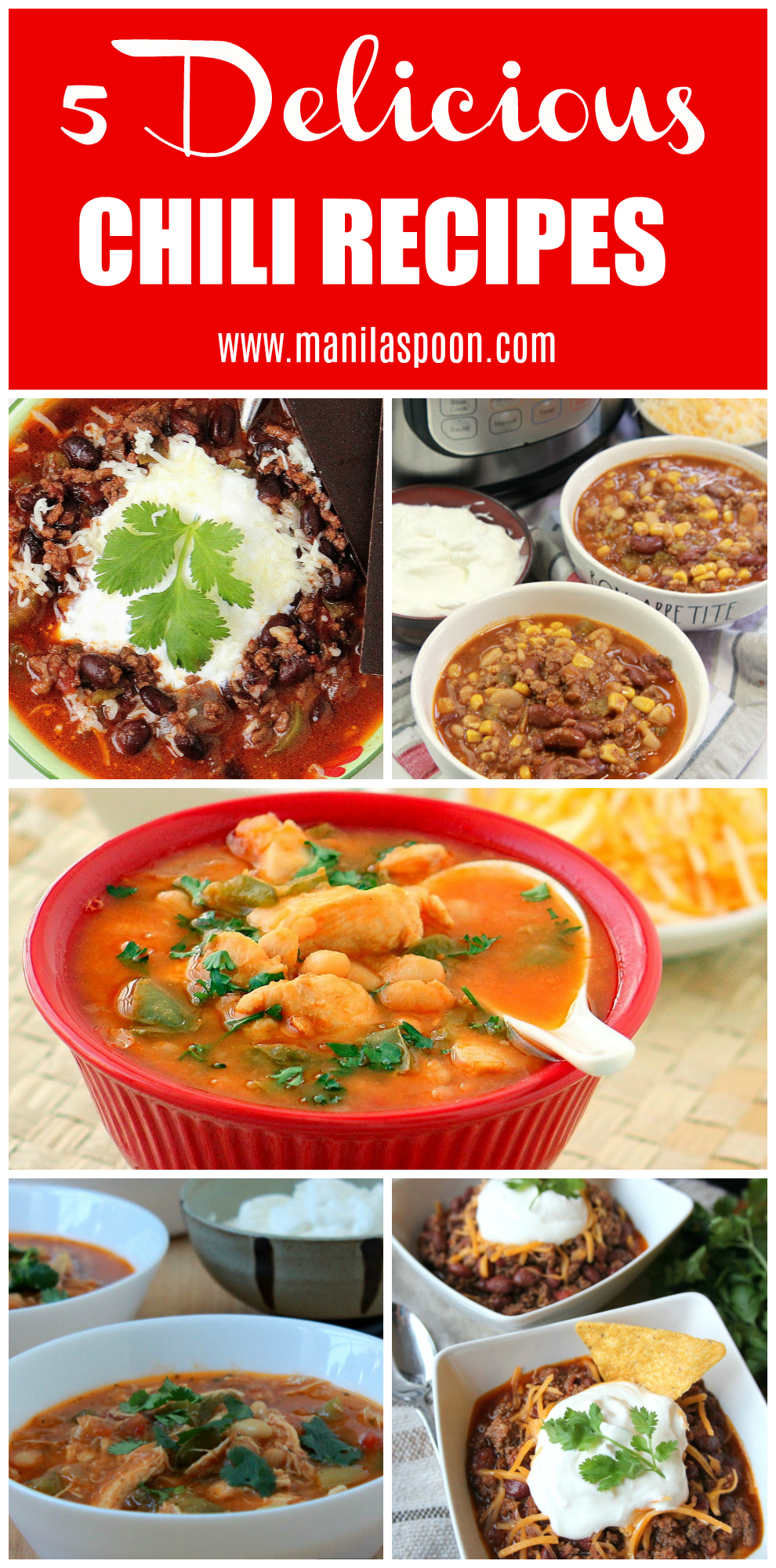No need to go for the same old, same old chili recipe as we give you these 5 easy and delicious chili recipes for your whole family to enjoy this winter season! #chili #easyrecipes