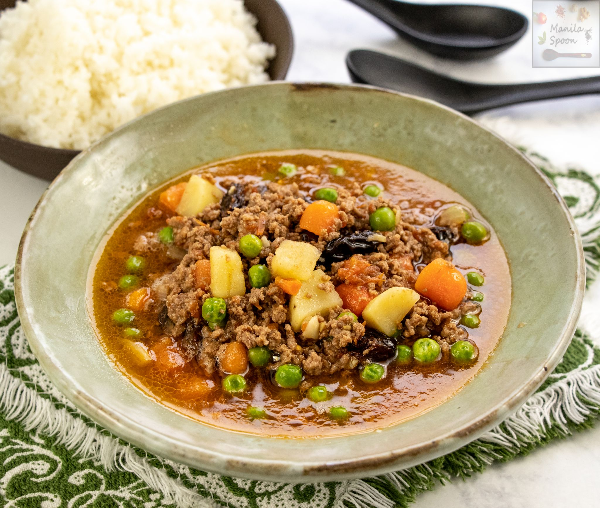 Instant Pot Or Stove Top Filipino Style Picadillo Ground Beef And Vegetable Stew Manila Spoon