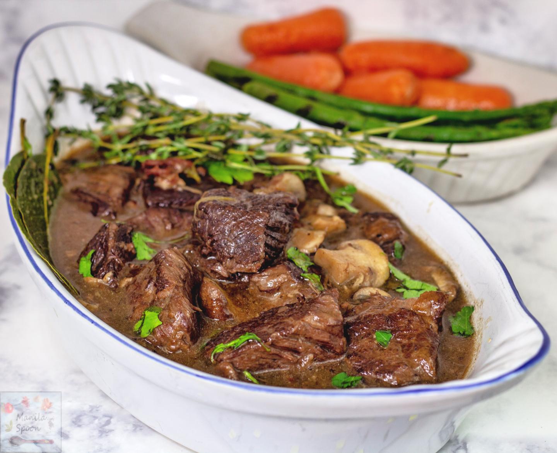 Instant Pot Beef Burgundy (Beef Bourguignon)