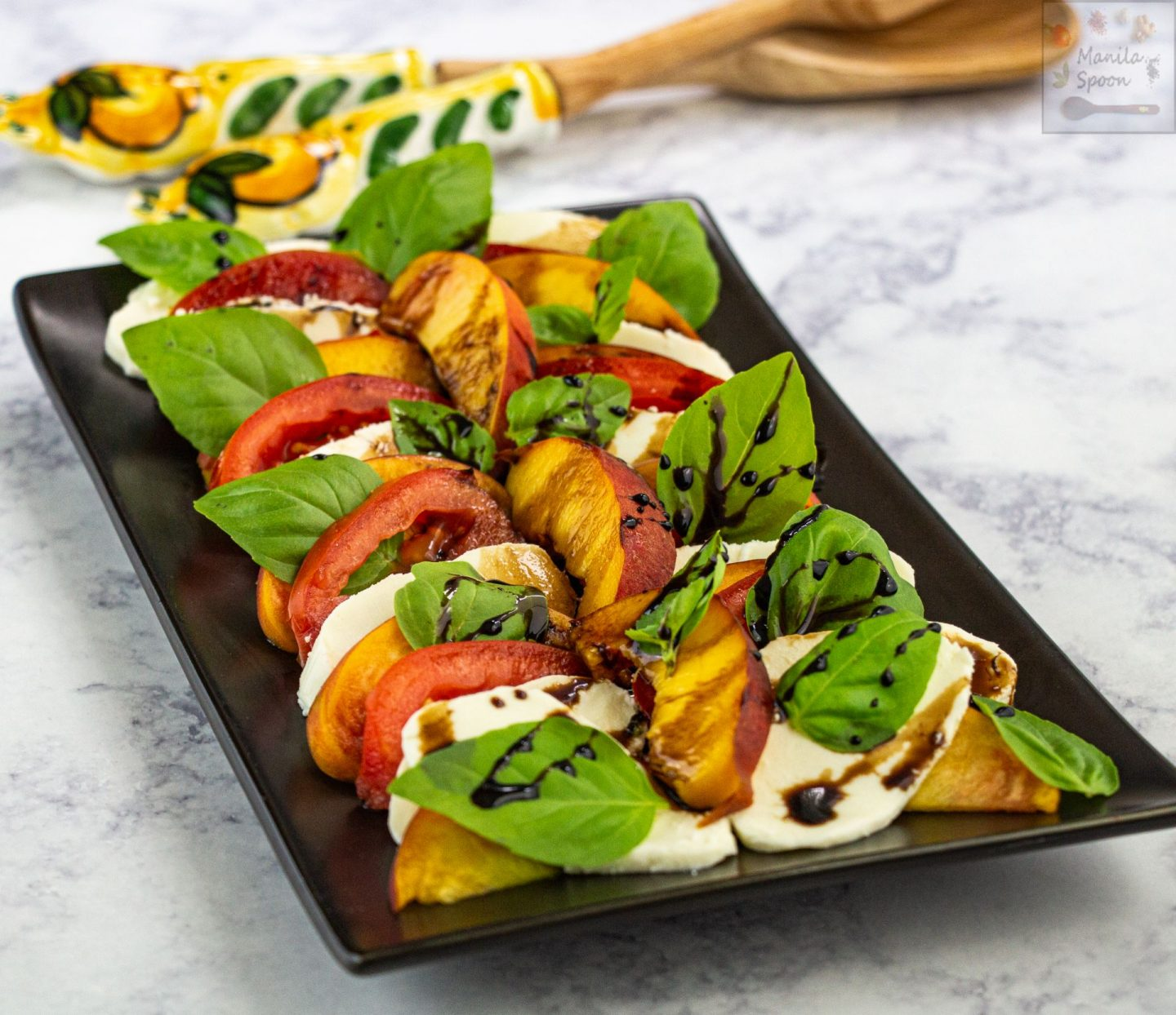 Easy Peach Caprese Salad