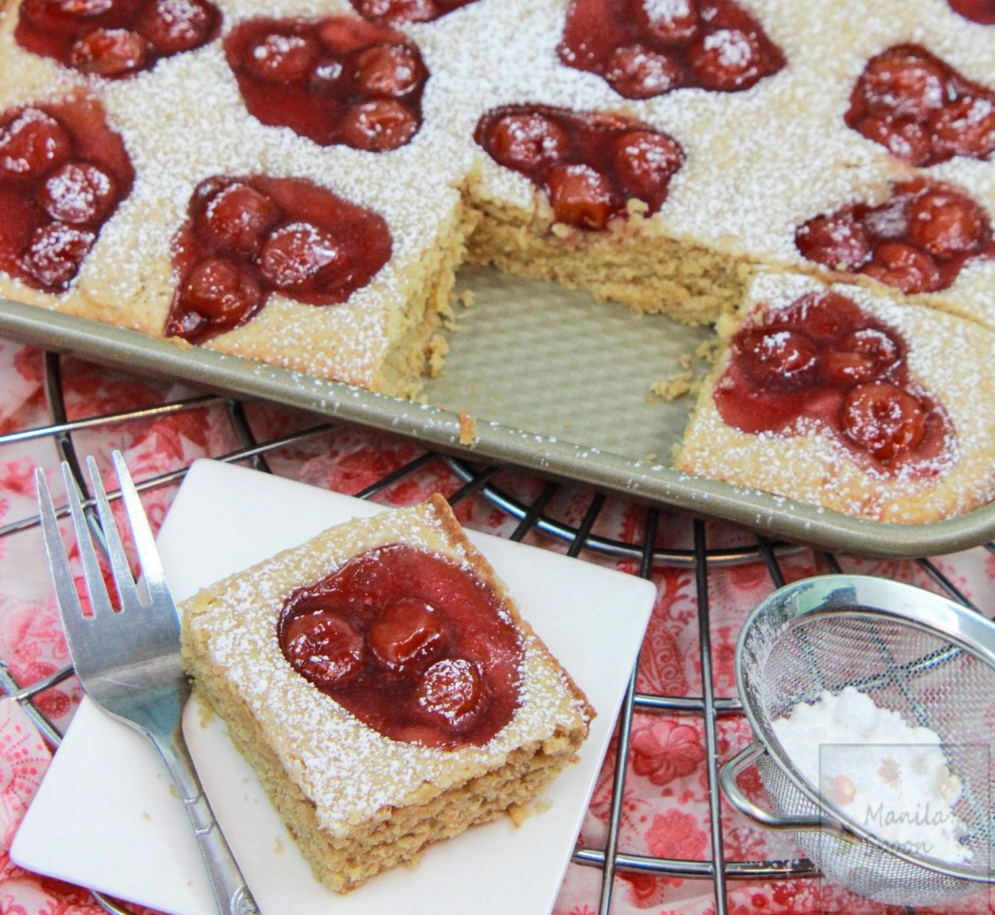 Easy Cherry Holiday Squares