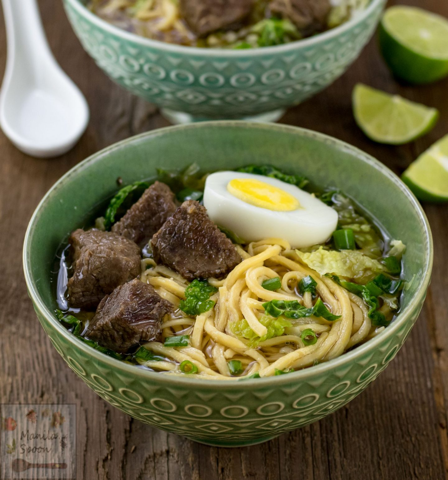 Beef Pares Mami (Filipino Noodle Soup)