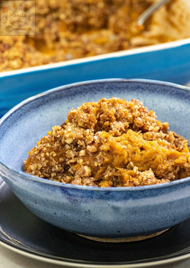 Yummy Sweet Potato Casserole (with Pecan Streusel Topping)