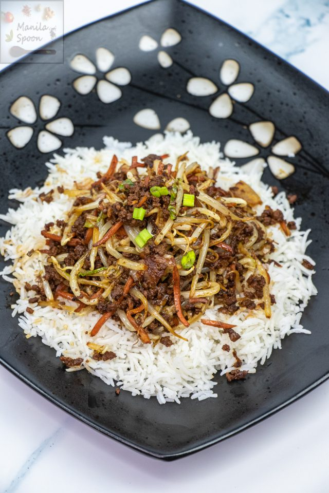 Korean-style Sauteed Beef with Bean Sprouts and Cabbage