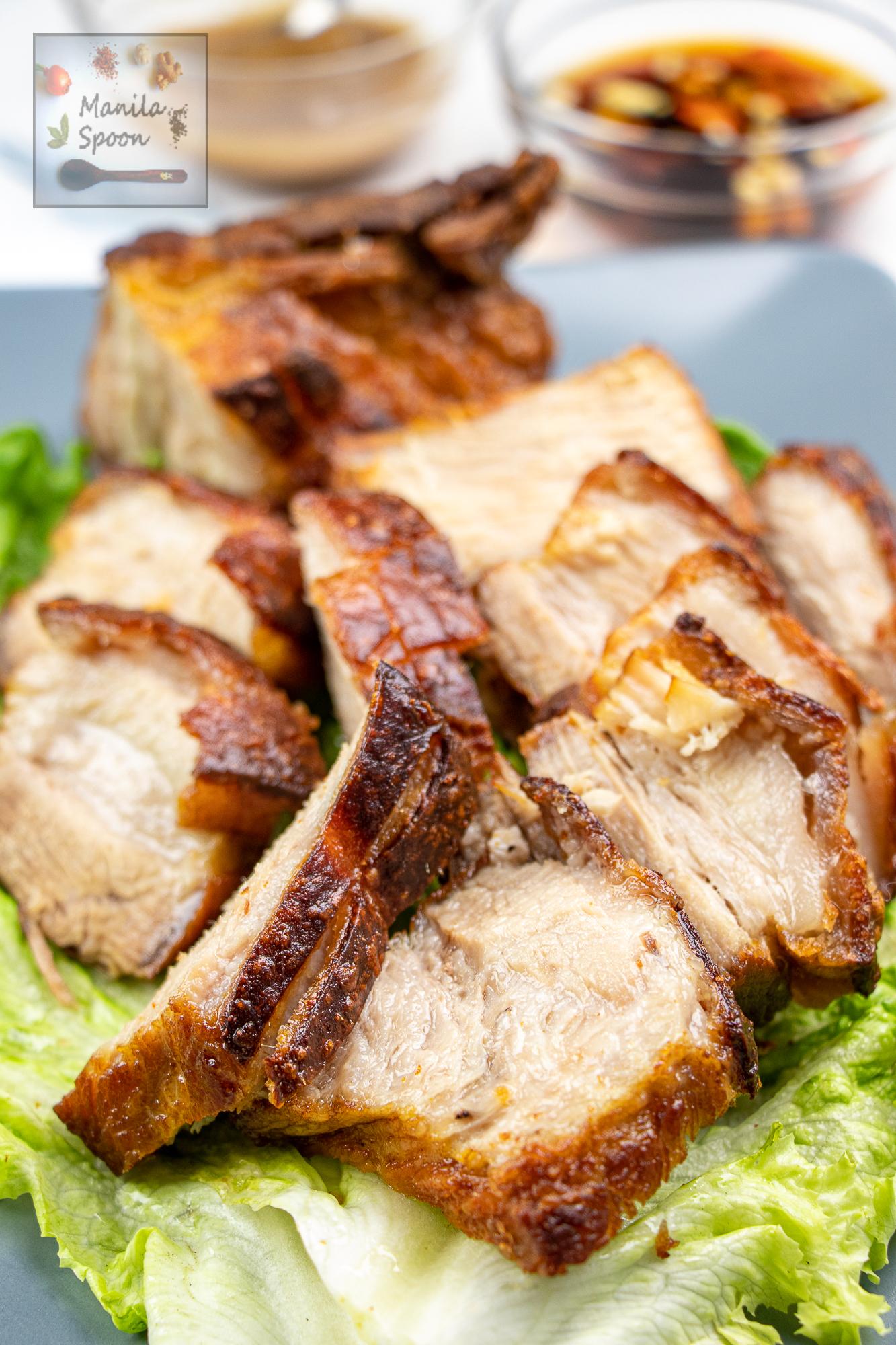 Easy Air Fryer Crispy Pork Belly Recipe (Lechon Kawali)