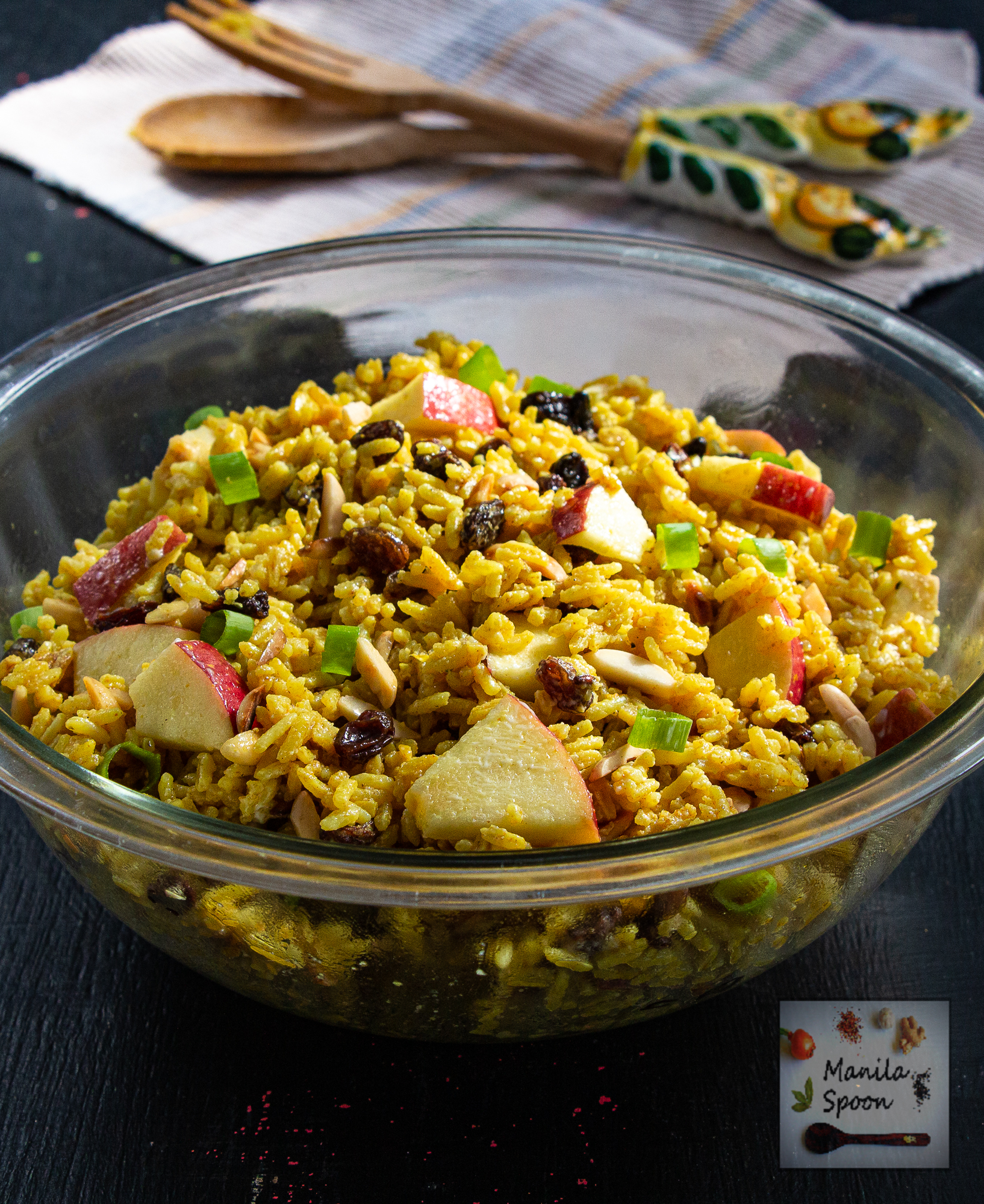 Curried Rice Salad with Apples and Raisins